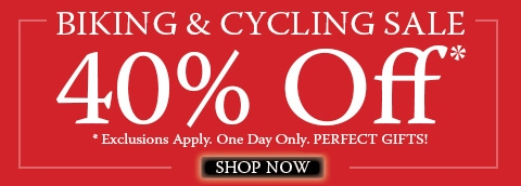 Biking and Cycling 40% Off Sale