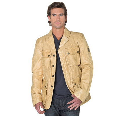 Belstaff Leather Jacket | Men's Douglas Vent Blazer