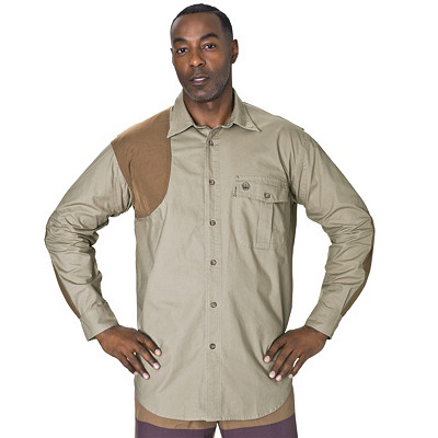 Men's Beretta Upland Canvas Cordura Overlay Hunting Shooting Shirt