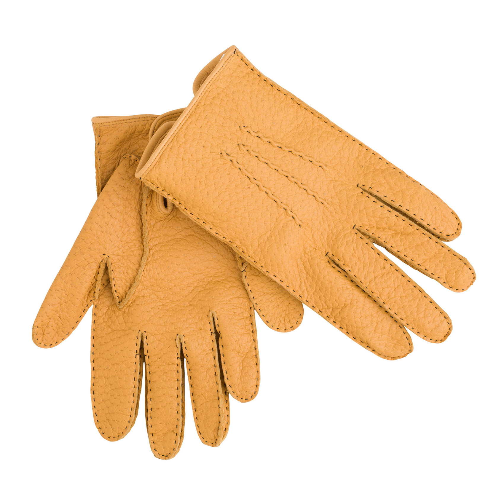 Mens leather gloves dents - Loading Zoom