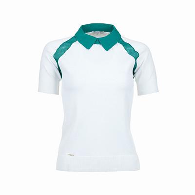 Women's L'Etoile Sport Medea Mesh Shoulder Golf Polo