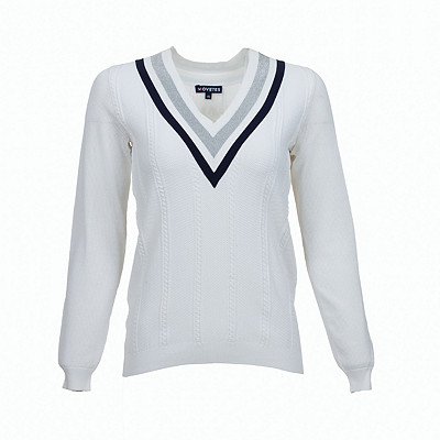Women's Movetes Cricket V Neck Golf Sweater