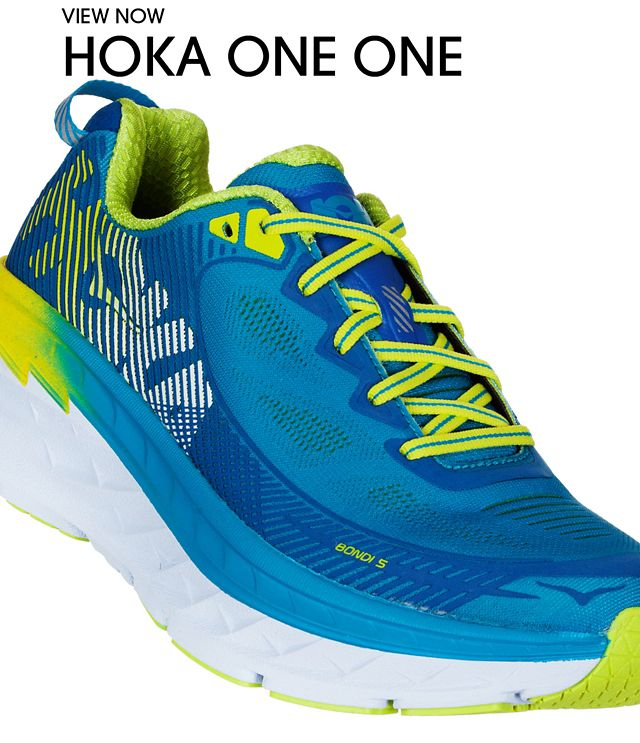 orange hoka shoes