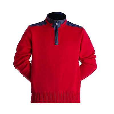 Trim Sweater | Men's Paul & Shark Quarter Zip with Nylon Trim Boating Sweater