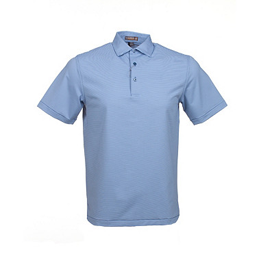 Men's Peter Millar Jubilee Stripe Stretch Jersey Golf Polo
