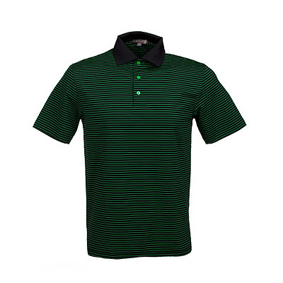 Men's Peter Millar Sheppard Stripe Stretch Jersey Golf Polo