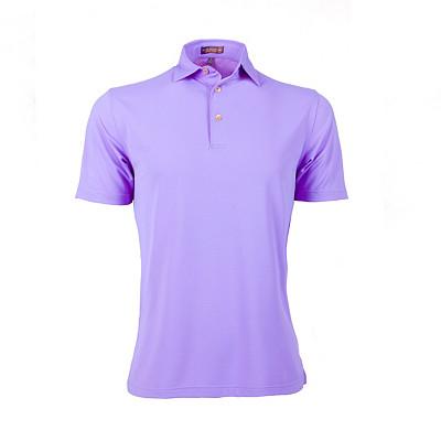 Men's Peter Millar Solid Mesh Stretch Sean Self Collar Golf Polo