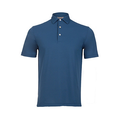Men's Peter Millar Solid Stretch Mesh Sean Collar Golf Polo